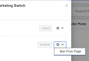Steps to Ban a Person to a Fanpage