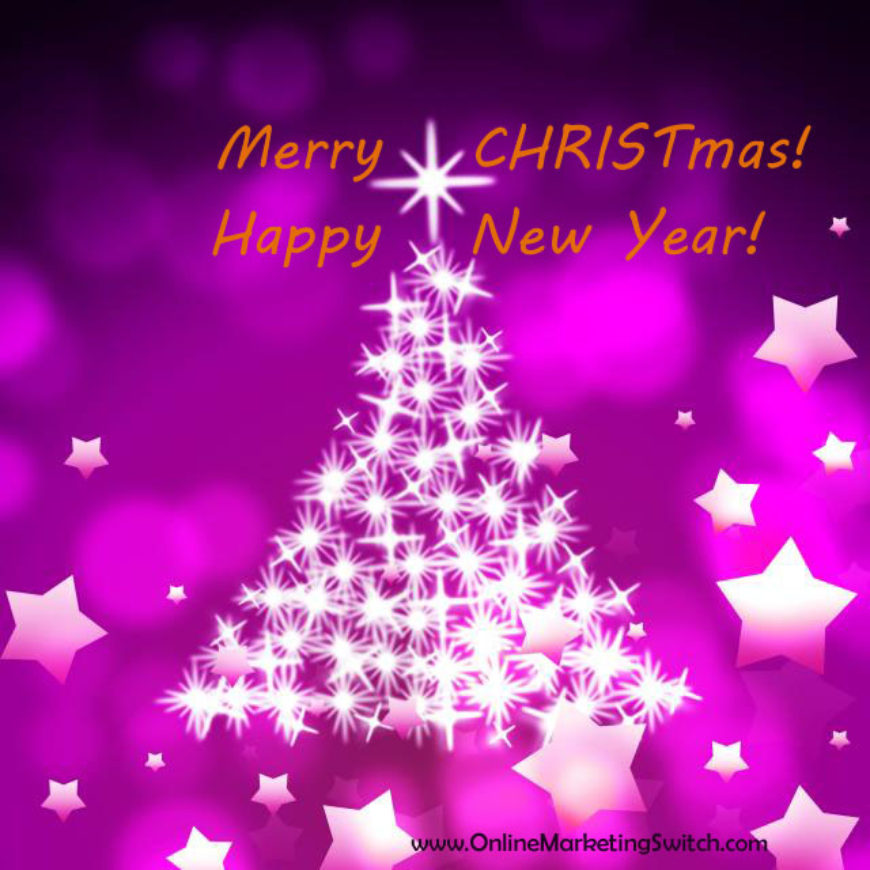 Merry CHRISTmas! And Looking Forward to the New Year!
